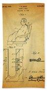 1943 Barber Apron Patent Bath Towel