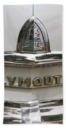 1948 Plymouth Hood Logo Bath Towel