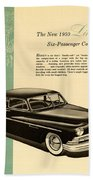 1950 Lincoln 6 Passenger Coupe Bath Towel