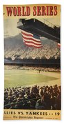 1950 Phillies Vs Yankees World Series Guide Hand Towel