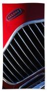 1951 Allard K2 Roadster Hood Ornament Bath Towel
