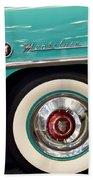 1951 Mercury Montclair Convertible Wheel Emblem Bath Towel