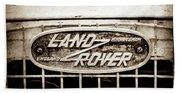 1952 Land Rover 80 Grille  Emblem -0988s2 Bath Towel