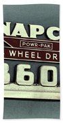 1953 Chevrolet 3600 4 X 4 Emblem Bath Towel