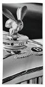 1954 Bentley R-type Hood Ornament -0493bw Hand Towel by Jill Reger