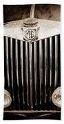 1954 Mg Tf Grille Emblem -0165s Bath Towel