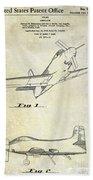 1955  Airplane Patent Drawing Bath Towel