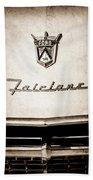 1955 Ford Fairlane Crown Victoria Emblem -1713s Bath Towel