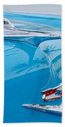 1956 Chevrolet Belair Nomad Hood Ornament Bath Towel
