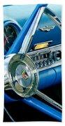 1956 Ford Thunderbird Steering Wheel And Emblem Bath Towel