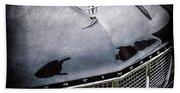 1956 Lincoln Continental Mark II Hess And Eisenhardt Convertible Grille Emblem - Hood Ornament -0126 Bath Towel