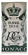 1956 Princess Grace Of Monaco Stamp II Bath Towel