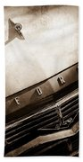 1957 Ford Custom 300 Series Ranchero Hood Ornament - Emblem -0477s Bath Towel