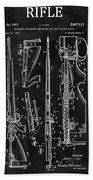1957 Rifle Patent Illustration Bath Towel