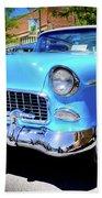 1955 Chevy Baby Blue Bath Towel