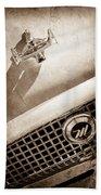 1959 Nash Metropolitan 1500 Convertible Hood Ornament - Grille Emblem -0180s Bath Towel