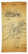1960 Bulldozer Patent Bath Towel