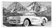1960 Corvette Bath Towel
