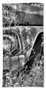 1961 Chevrolet Apache 10 Black And White 4 Bath Towel