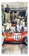 1961 Le Mans 1961 Ferrari 250 Tri Olivier Gendebien Phil Hill Winner  Hand Towel