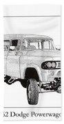 1962 Dodge Powerwagon Bath Towel