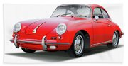 1965 Porshe 356 Sc Coupe Bath Towel