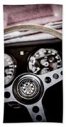 1966 Jaguar Xk-e Steering Wheel Emblem -2489ac Bath Towel