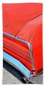 1966 Pontiac Gto Tail Lights And Logos Bath Towel