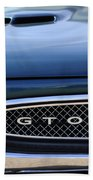 1967 Pontiac Gto Grille Emblem Bath Towel