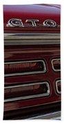1967 Pontiac Gto Logo Bath Towel