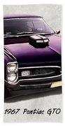 1967 Purple Pontiac Gto Bath Towel