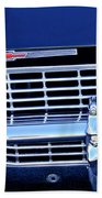 1968 Chevrolet Impala Ss Grille Emblem Bath Towel