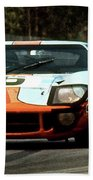 1969 24 Hours Of Le Mans Ford Gt40 First Place, Mixed Media  Bath Towel
