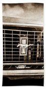 1969 Ford Mustang Grille Emblem -0129s Bath Towel