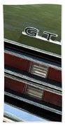 1969 Pontiac Gto Taillight Emblem Bath Towel