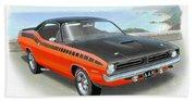 1970 Barracuda Aar  Cuda Classic Muscle Car Bath Towel