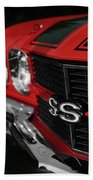 1970 Chevelle Ss396 Ss 396 Red Bath Towel