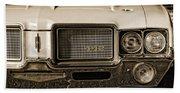 1972 Olds 442 - Sepia Bath Towel