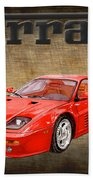 Ferrari F 512m 1995 Bath Towel