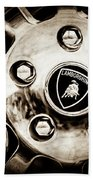 1997 Lamborghini Diablo Roadster  Wheel Emblem -1303s Bath Towel
