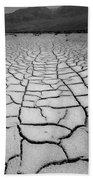 1a6832 Bw Mud Cracks In Death Valley Bath Towel