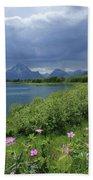 1m9236 Mt. Moran And Sticky Geranium Bath Towel