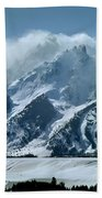 1m9314 Clouds Over The Tetons Bath Towel