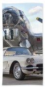 1962 Chevrolet Corvette Bath Towel