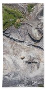 Aerial View Over The Building Materials Processing Factory. Bath Towel