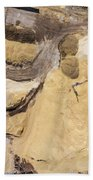 Aerial View Over The Sandpit. Industrial Place In Poland. Bath Towel