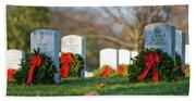 Arlington National Cemetery At Christmas Hand Towel