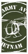 Army Aviation Vietnam Bath Towel