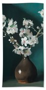 Australian Almond Blossom Bath Towel