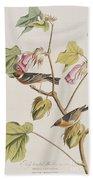 Bay Breasted Warbler Bath Towel